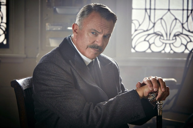 Programme Name: Peaky Blinders - TX: n/a - Episode: Episode 2 (No. 2) - Picture Shows: Chief Inspector Campbell (Sam Neill) - (C) Mandabach TV - Photographer: Robert Viglasky